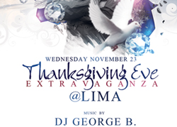 Lima Lounge Thanksgiving Eve